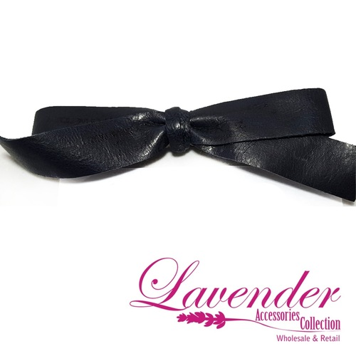Dark Blue Ribbon Hair Clip