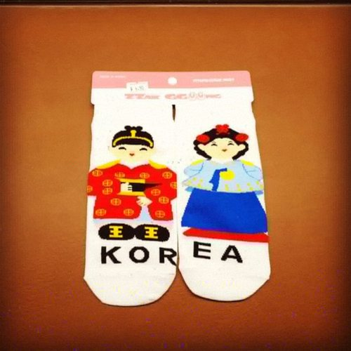 Korea Traditional Character Sock