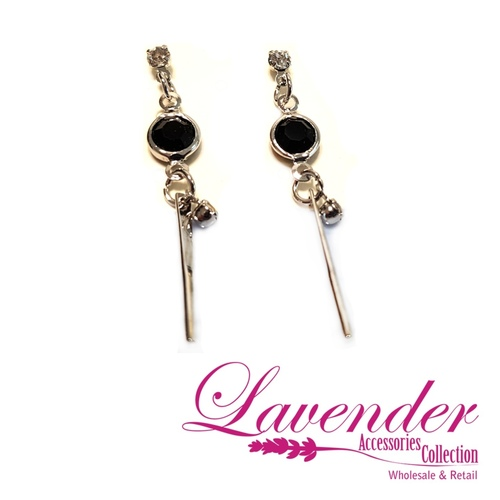 Fashion Black Diamond Earring