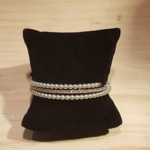 bracelet white pearl and gold