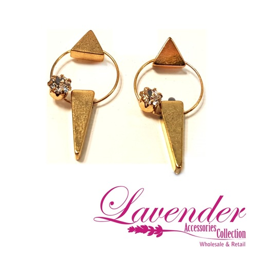 Gold Fashion Earring