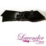 Black Ribbon Hair Clip