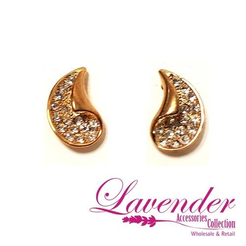 Golden Fashion Earring