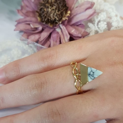 Triangle Marble Ring