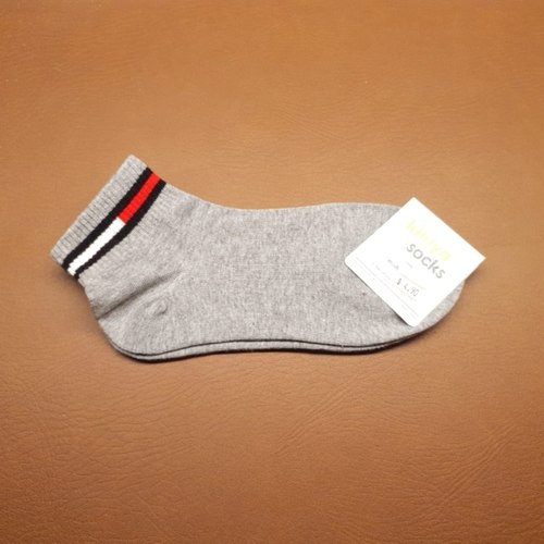 Grey Socks With Strip