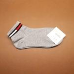 Grey Socks With Strip