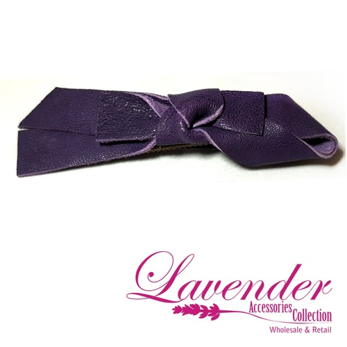 Purple Ribbon Hair Clip