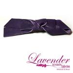 Purple Ribbon Hair Clip