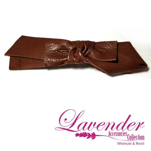 Brown Ribbon Hair Clip