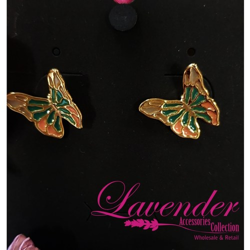 Golden Butterfly Earring