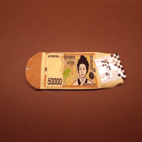Korean Note Design Sock