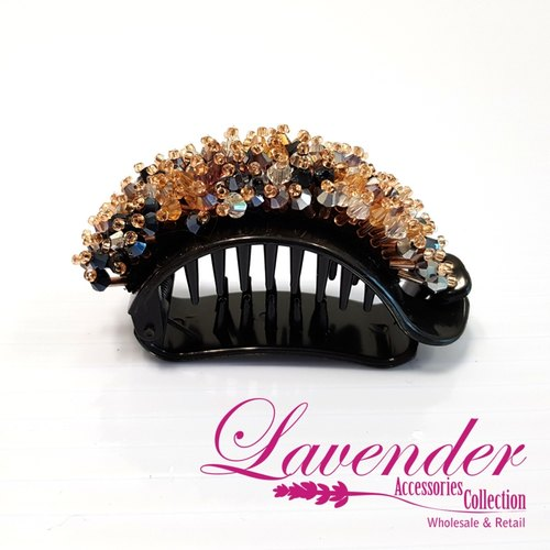 Colorful Brown Diamond Hair Clip