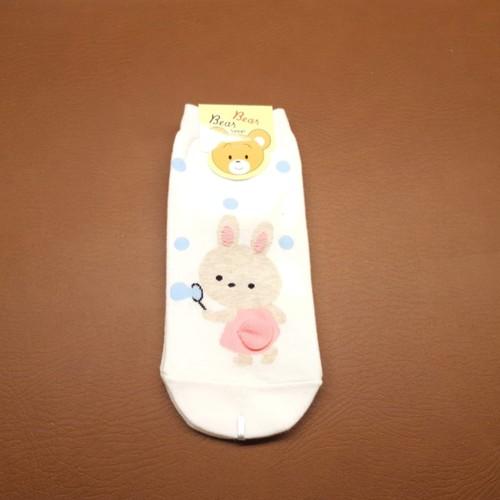 Blowing Bubble Bunny Sock