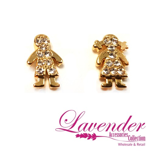 Golden Couple Earring