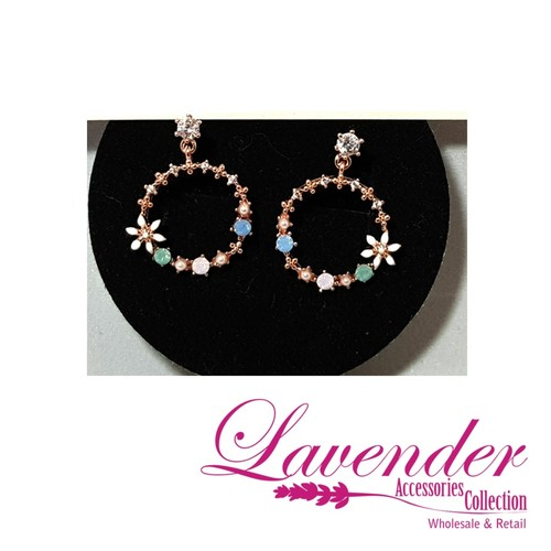Round Garden Diamond Earring