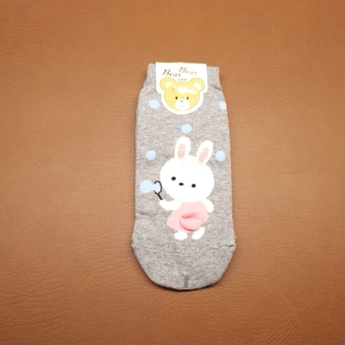 Blowing Bubble Bunny Sock