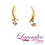Moon And Diamond Earring