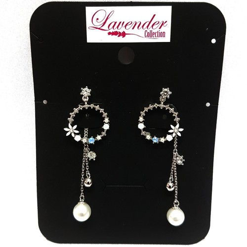 Diamond Floral and Pearl Earring