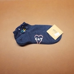 cat dark blue socks
