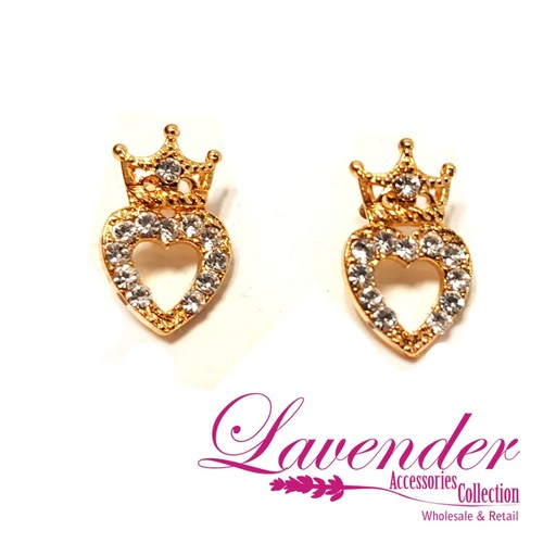 Golden Crown Earring