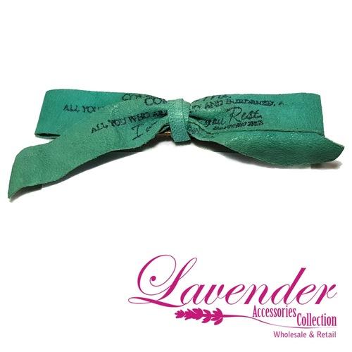 Green Ribbon Hair Clip