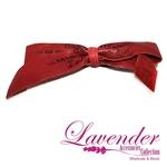 Dark Red Ribbon Hair Clip
