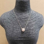 necklace with pink stone