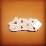 Minimal Heart Socks