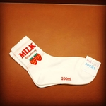 Strawberry Long White Sock