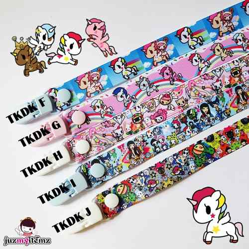 Multipurpose Toy clip / Pacifier clip / Teether Holder Clip - Tokidoki (F to J)