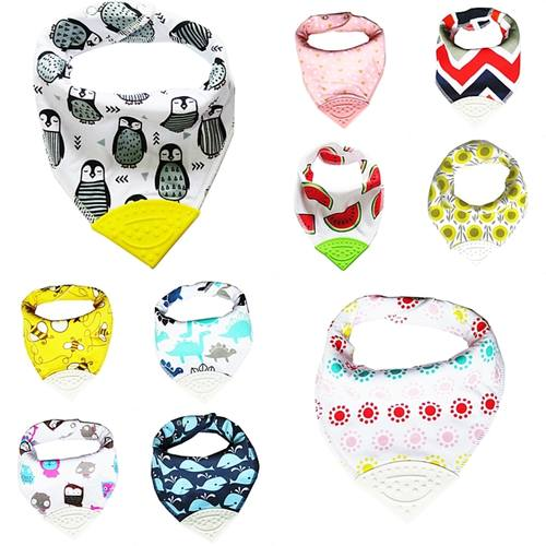 Bandana Chewable Teething Bib with Teether