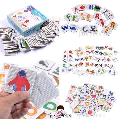 Preschooler Educational Montessori Mideer 52pcs Alphabet Paired Flash Card Cognitive Game