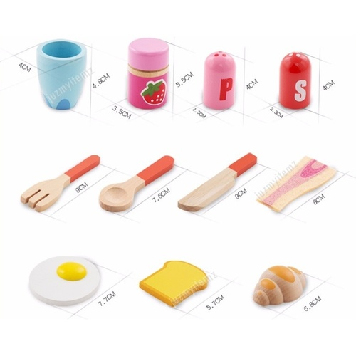 Educational Pretend Play Game - Breakfast Set