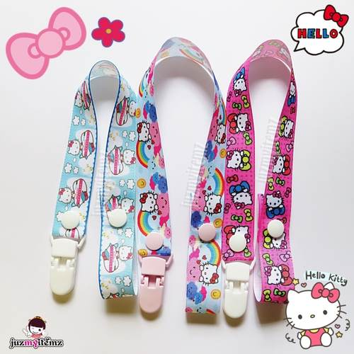 Multipurpose Toy clip / Pacifier clip / Teether Holder Clip - Hello Kitty