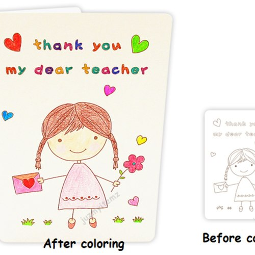 Handmade DIY Teacher's Day Card