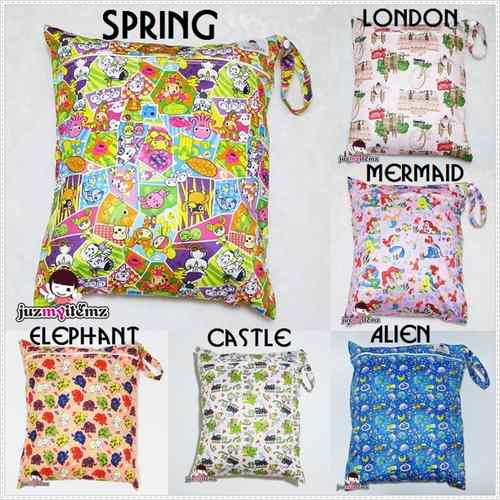 Multipurpose Large Single Zip with snap button Wetbag
