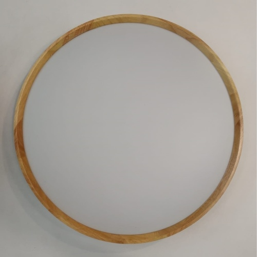 Slim Wooden Round Ceiling Light Acrylic