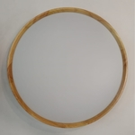 Slim Wooden Round Ceiling Light (Acrylic)
