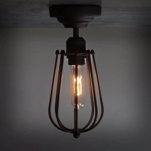 Scone Industrial Cage Ceiling Light