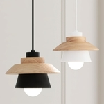 Cone with Wood Shade Pendant Light SPECIAL SALE