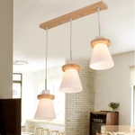 Wood Ring Cone Pendant Light Set (Set of 3)