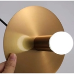 Brass Saucer Pendant Light