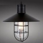 Shaded Glass Cage Pendant Light
