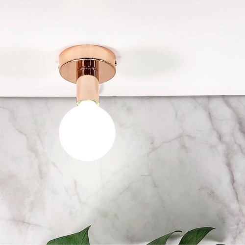 Ceiling Mounted Rose Gold Bulb Holder