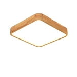 Wood Square Ceiling Light