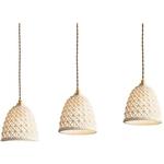 Ceramic with Gold Holder Pendant Light