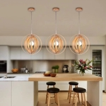 Wood Rings Pendant Light