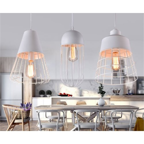 Cap With Cage Pendant Light (3 Designs)