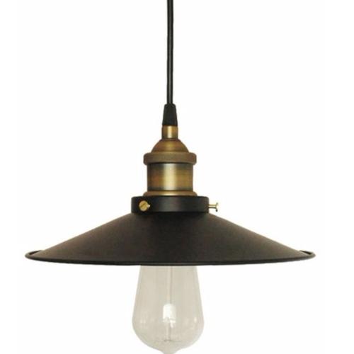Industrial Gold & Black Pendant Light