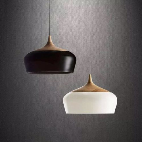 Bowl with Wooden Tip Pendant Light